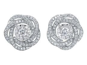 Earrings from the Diamond Bouquets™ - By Memoire - Style #: MBQ02E-0066TW