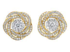 Earrings from the Diamond Bouquets™ - By Memoire - Style #: MBQ02E-0066TY