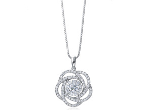 Pendants from the Diamond Bouquets™ - By Memoire - Style #: MBQ02P-0066TW