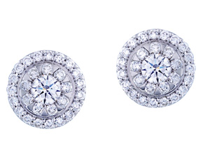 Earrings from the Diamond Bouquets™ - By Memoire - Style #: MBQ03E-0100TW