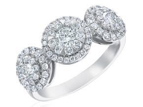 Engagement Rings from the Diamond Bouquets™ - By Memoire - Style #: MBQ05R-0100TW