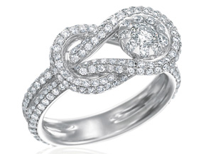 Engagement Rings from the Diamond Bouquets™ - By Memoire - Style #: MBQ09R-0150TW