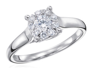 Engagement Rings from the Diamond Bouquets™ - By Memoire - Style #: MBQ10ER-0100TW