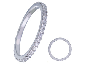 Wedding Rings from the Diamond Bouquets™ - By Memoire - Style #: MBQ10MB-0050TW