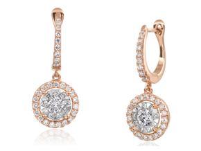 Earrings from the Diamond Bouquets™ - By Memoire - Style #: MBQ15DE-0110TR