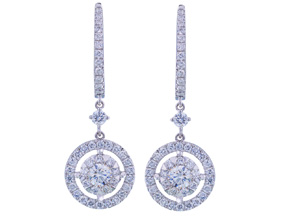 Earrings from the Diamond Bouquets™ - By Memoire - Style #: MBQ15E-0133TW