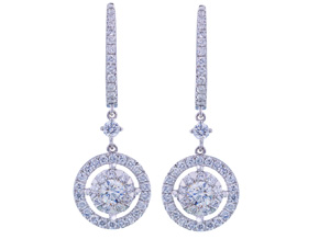 Earrings from the Diamond Bouquets™ - By Memoire - Style #: MBQ15E-0180TW