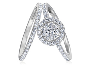 Engagement Rings from the Diamond Bouquets™ - By Memoire - Style #: MBQ15ER-0066TW