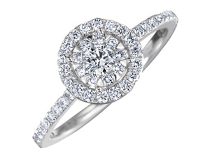 Engagement Rings from the Diamond Bouquets™ - By Memoire - Style #: MBQ15ER-0100TW