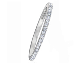 Wedding Rings from the Diamond Bouquets™ - By Memoire - Style #: MCBQ5MB-0025TW