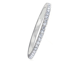 Wedding Rings from the Diamond Bouquets™ - By Memoire - Style #: MBQ15MB-0033TW