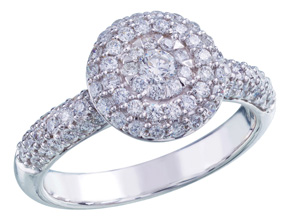 Engagement Rings from the Diamond Bouquets™ - By Memoire - Style #: MBQ16ER-0150TW