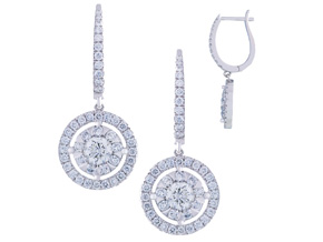 Earrings from the Diamond Bouquets™ - By Memoire - Style #: MBQ17E-0125TW
