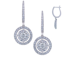 Earrings from the Diamond Bouquets™ - By Memoire - Style #: MBQ17E-0166TW