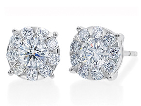 Earrings from the Diamond Bouquets™ - By Memoire - Style #: MBQ1E-0140TW