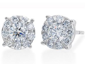 Earrings from the Diamond Bouquets™ - By Memoire - Style #: MBQ1E-0150TW