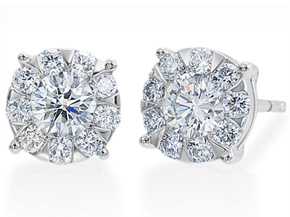 Earrings from the Diamond Bouquets™ - By Memoire - Style #: MBQ1E-0100TW