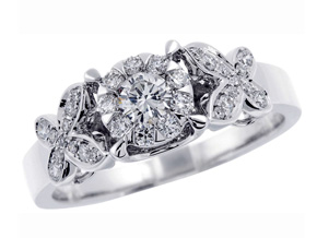 Engagement Rings from the Diamond Bouquets™ - By Memoire - Style #: MBQ22R-0050TW