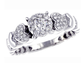 Engagement Rings from the Diamond Bouquets™ - By Memoire - Style #: MBQ23R-0050TW