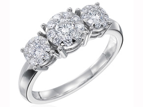 Engagement Rings from the Diamond Bouquets™ - By Memoire - Style #: MBQ27R-0033TW