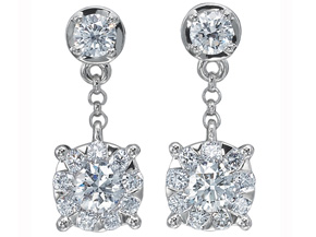 Earrings from the Diamond Bouquets™ - By Memoire - Style #: MBQ3E-0090TW