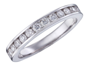 Wedding Rings from the Diamond Bouquets™ - By Memoire - Style #: MBQ47MB-0050TW
