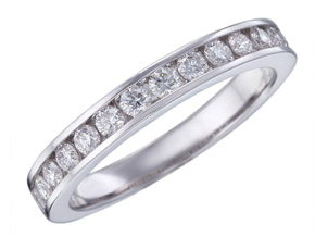 Wedding Rings from the Diamond Bouquets™ - By Memoire - Style #: MBQ47MB-0070TW