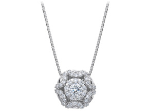 Pendants from the Diamond Bouquets™ - By Memoire - Style #: MBQ4P-0075TW