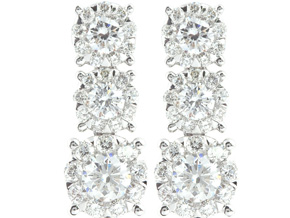Earrings from the Diamond Bouquets™ - By Memoire - Style #: MBQ56E-0133TW