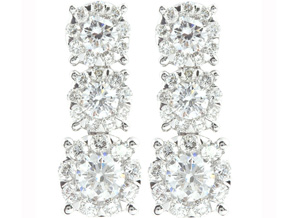 Earrings from the Diamond Bouquets™ - By Memoire - Style #: MBQ56E-0100TW