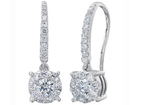 Earrings from the Diamond Bouquets™ - By Memoire - Style #: MBQ66E-0066TW