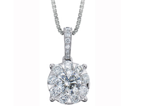 Pendants from the Diamond Bouquets™ - By Memoire - Style #: MBQ68P-0075TW