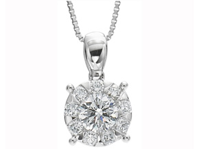 Pendants from the Diamond Bouquets™ - By Memoire - Style #: MBQ69P-0075TW