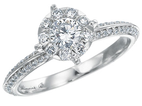 Engagement Rings from the Diamond Bouquets™ - By Memoire - Style #: MBQ77R-0050TW
