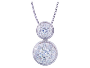 Pendants from the Diamond Bouquets™ - By Memoire - Style #: MBQ80P-0066TW