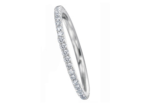 Wedding Rings from the Diamond Bouquets™ - By Memoire - Style #: MBQ84MB-0025TW