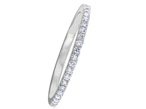 Wedding Rings from the Diamond Bouquets™ - By Memoire - Style #: MBQ84MB-0033TW