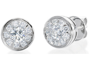 Earrings from the Diamond Bouquets™ - By Memoire - Style #: MBQ85E-0100TW