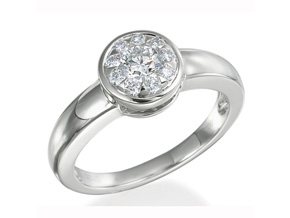 Engagement Rings from the Diamond Bouquets™ - By Memoire - Style #: MBQ85ER-0050TW