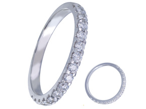 Wedding Rings from the Diamond Bouquets™ - By Memoire - Style #: MBQ85MB-0050TW