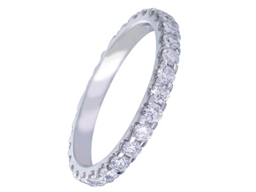 Wedding Rings from the Diamond Bouquets™ - By Memoire - Style #: MBQ85MB-0100TW