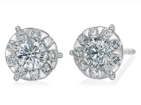 Earrings from the Diamond Bouquets™ - By Memoire - Style #: MBQ86E-0133TW