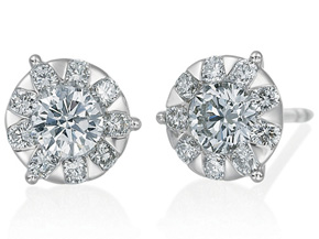 Earrings from the Diamond Bouquets™ - By Memoire - Style #: MBQ86E-0100TW