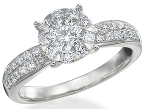 Engagement Rings from the Diamond Bouquets™ - By Memoire - Style #: MBQ8R-0100TW
