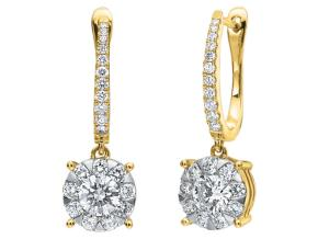 Earrings from the Diamond Bouquets™ - By Memoire - Style #: MBQ96E-0120TY