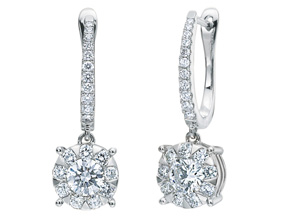 Earrings from the Diamond Bouquets™ - By Memoire - Style #: MBQ96E-0120TW