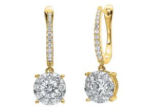 Earrings from the Diamond Bouquets™ - By Memoire - Style #: MBQ96E-0150TY