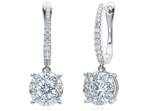 Earrings from the Diamond Bouquets™ - By Memoire - Style #: MBQ96E-0150TW