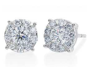 Earrings from the Diamond Bouquets™ - By Memoire - Style #: MBQL1E-0140TW