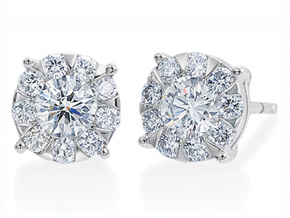 Earrings from the Diamond Bouquets™ - By Memoire - Style #: MBQL1E-0100TW